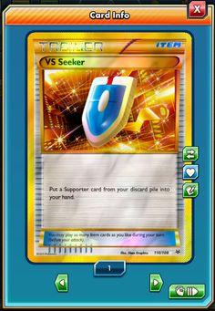 SR VS Seeker SECRET RARE 110//108 for Pokemon TCG Online PTCGO, Digital Card