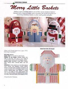 Plastic Canvas Ornaments, Plastic Canvas Crafts, Plastic Canvas Patterns, Christmas Baskets, Christmas Bags, Christmas Crafts, Xmas, 50 Diy Christmas Decorations, Christmas Coasters