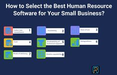 How to Select the Best Human Resource Software for Your Small Business? Labor Law, Be A Nice Human, Best Practice, Human Resources, Flexibility, Software, The Selection, Good Things, Business