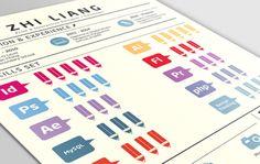 70 Creative & Beautiful Resume Examples to Get Inspired - Hipsthetic Graphic Design Resume, Resume Design Template, Resume Templates, Resume Folder, Resume Cv, Resume Advice, Career Advice, Cv Curriculum Vitae, Cv Inspiration