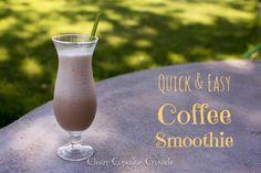 Quick & easy coffee smoothie