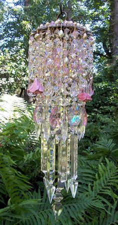 Summer Goddess Antique Crystal Wind Chime by sheriscrystals, $289.95