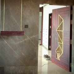 Door Design Interior, Foyer Design, Interior Design Photos, Interior Concept, Ceiling Design, Main Entrance Door Design, Entrance Doors, Wooden Door Design, Wooden Doors