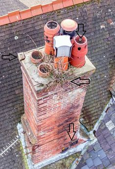 Drone survey reveals a medley of problems on a chimney stack Mother Nature, Homes, Shape, Houses, Home, Computer Case, Nature, Mother Earth