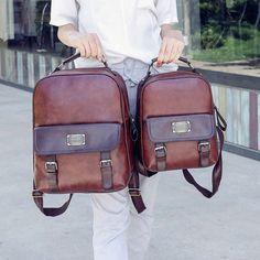 Cheap Vintage Travel PU School Backpack Retro Imitation Leather Grain Backpacks For Big Sale! Lace Backpack, Retro Backpack, Backpack For Teens, Travel Backpack, Fashion Backpack, Pretty Backpacks, Boys Backpacks, School Backpacks, Ladies School Bag
