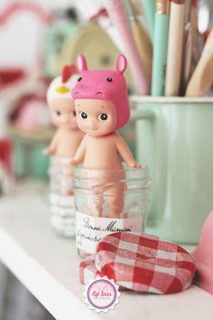 Sonny Angel, Syl loves, mint, pink, workspace