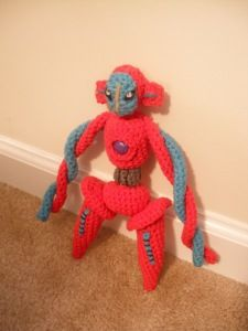 2000 Free Amigurumi Patterns: Free Deoxys Pokémon crochet pattern