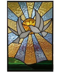 Stained Glass Doves #StainedGlassArt