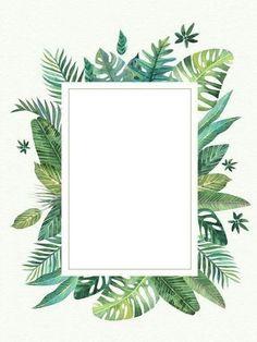 Wallpaper Tropical Background, Flower Background Wallpaper, Leaf Background, Cute Wallpaper Backgrounds, Pretty Wallpapers, Flower Backgrounds, Iphone Wallpaper, Framed Wallpaper, Wallpaper Space