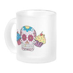 Sugar Skull and Cupcakes Coffee Mugs