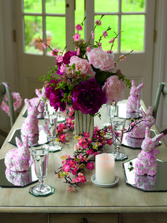 In the pink this spring...  Decorate your Easter table with vibrant and soft pinks to really stand out this year. Take a look at the website for more inspiration!