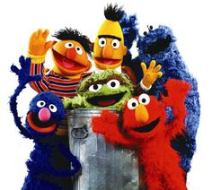 Sesame Street!  We watched this in Kindergarten. My favorite was Oscar with Bert and Ernie coming in a close second.