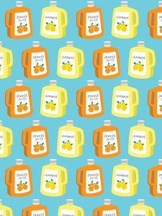 Orange Juice & Lemonade Pattern – The Supermarket Series card by Pattern Paper Co.
