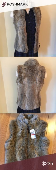 NEWMichael Kors Fur Vest NEW MK Fur Vest. Gorgeous Fur Vest. 50% Off Retail price. Perfect for the Holidays!   % real rabbit fur. ❌no trading or holding Michael Kors Jackets & Coats Vests