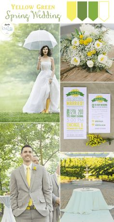 Spring Time Yellow Green Wedding Inspiration