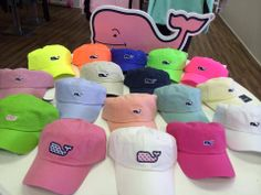Have you ever seen a better selection of Vineyard Vines hats? Sun's out - baseball caps are on!