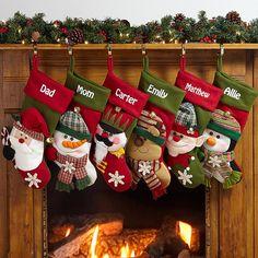 big face jingle bell stocking - Custom Christmas Stockings