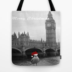 FREE SHIPPING WORLDWIDE UNTIL NOV 09!!!!! Xmas Ben & Berth Tote Bag by Caribbean Critters Co. - $17.00