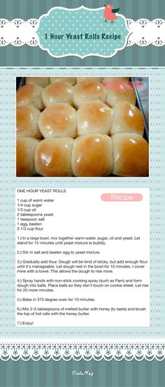 1 Hour Yeast Rolls Recipe