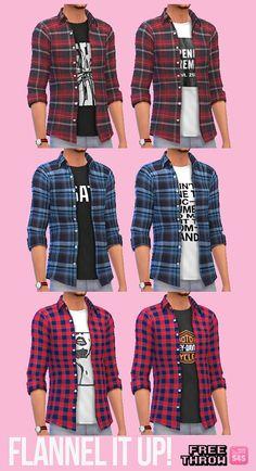 Layered shirt at CC-freethrow via Sims 4 Updates