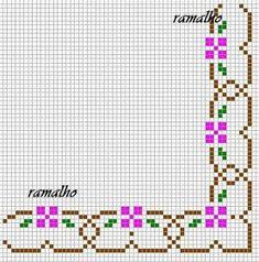 Dinha Ponto Cruz: Um Ramalho de flores em ponto cruz!