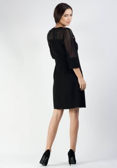 Lady, High Neck Dress, Dresses For Work, Fashion, Turtleneck Dress, Moda, Fashion Styles, Fashion Illustrations, High Neckline Dress