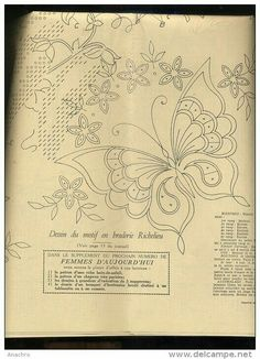 Cutwork Embroidery, Embroidery Sampler, Butterfly Embroidery, Embroidery Transfers, Hand Embroidery Patterns, Vintage Embroidery, Machine Embroidery Designs, String Art Patterns, Diy And Crafts Sewing