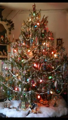 This was our tree(s) I always loved the tinsel but, I dont like too much of it.  11.03.15 - Beautiful tree!!