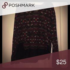 Tribal print hoodie Ohhh weight material black, burgundy, and gray tribal print hoodie Tops Sweatshirts & Hoodies