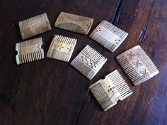 """Wooden medieval/late roman combs. Made by """"Fabrica Labarum"""", finished by me."""