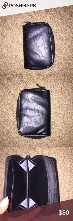 Rare Bape Wallet rare leather black bape wallet!! one zipper is for money and the second can be for keys! love it just too manly for me. labeled supreme for exposure Supreme Bags Wallets
