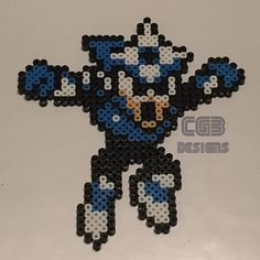 Shadow Man Mega Man perler beads by cgbdesigns