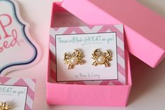 Don't be crabby, get a pair of cute earrings!