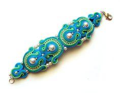 BOLLYWOOD Statement bracelet soutache colorful от SaboDesign, $120,00