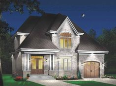 European House Plan with 1874 Square Feet and 4 Bedrooms(s) from Dream Home Source | House Plan Code DHSW65167