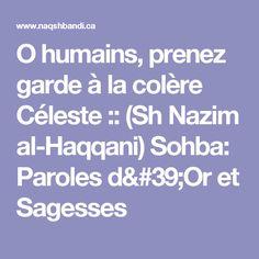 O humains, prenez garde à la colère Céleste :: (Sh Nazim al-Haqqani) Sohba: Paroles d'Or et Sagesses