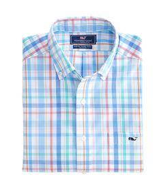 Downhaul Plaid Slim Tucker Shirt