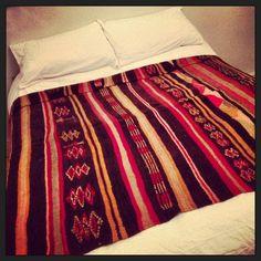 Lovely vintage heavy woollen blanket