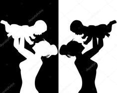 Baixar - Mãe e filho — Ilustração de Stock #11447348