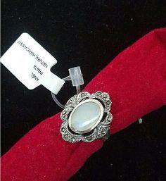 anel prata legÍtima pedra natural e marcassitas - jóias prata legÍtima ring silver