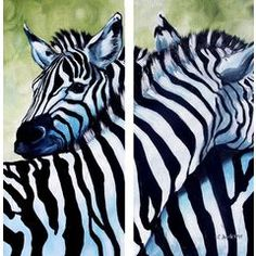 Original Painting 'Zebra Love' on Art Auction ~ ends tonight (under 2 hours left!)  Great deal on original by Cherie Roe Dirksen (international postage is twenty dollars)