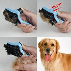 Mascota perro pelo de gato piel quitar herramientas de pinceles peine rastrillo de la preparación del vertimiento