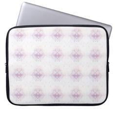 Light Pink Geometric Pattern Laptop Sleeve - patterns pattern special unique design gift idea diy