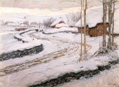 'Snowdrifts' by Frederick Waugh, 1904. This pastel painting from the Walker Art Gallery's collection is available as an e-card: http://www.liverpoolmuseums.org.uk/ecards/write-card.aspx?card=159719set=5439