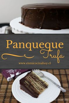 La torta panqueque trufa es laboriosa de hacer, pero el resultado es realmente espectacular, no te vas a arrepentir. Deliciosa e irresistible. Just Cakes, Cakes And More, Tortas Light, Brownie Packaging, Chilean Recipes, Mocca, Food Humor, Desert Recipes, Let Them Eat Cake