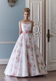 100 Floral Wedding Dress Ideas For Your Dream Day 89