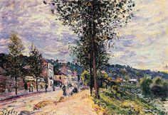 Rue à l'entrée d'un village Alfred Sisley