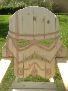 Unfinished star wars storm trooper chairAdirondack by MandWs