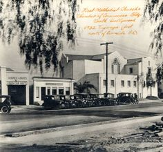 First Methodist Church and Chamber of Commerce, 4832 Tujunga Avenue, just north of Riverside Drive, North Hollywood, California, circa 1920s. Los Angeles Valley College Historical Museum. San Fernando Valley History Digital Library.