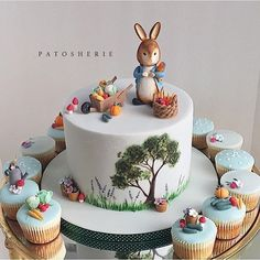 This bunny cake has been quite popular this weekend (Thanks so much to all those sharing and crediting😊) Peter rabbit will always be my favourite bunny! Peter Rabbit Cake, Peter Rabbit Birthday, Fondant Cakes, Cupcake Cakes, Easter Bunny Cake, Baby Shower Cakes For Boys, Cake Decorating Techniques, First Birthday Cakes, Baby Cakes